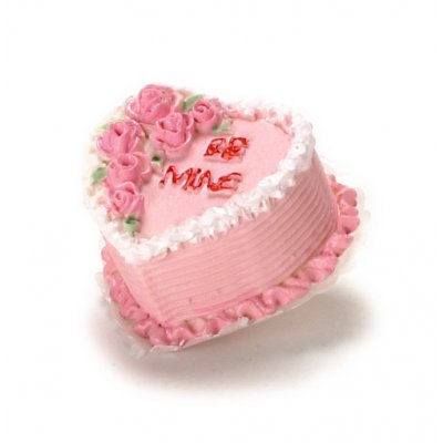 Be Mine Heart Shaped Valentines Cake