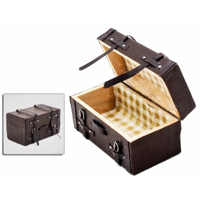 Wooden Leather Suitcase - Trunk