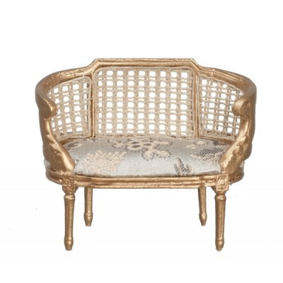 1/2in Scale Louis XIV Small Settee - Gold