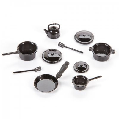 10pc Black Cookware Set