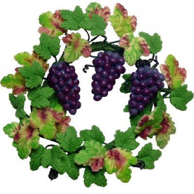 Grapevine Wreath with Grapes