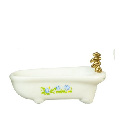 1/2in Scale Bathtub - White