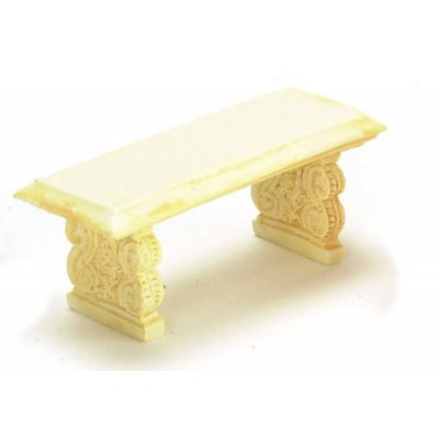 1/2in Scale Bench Ivory 2pc