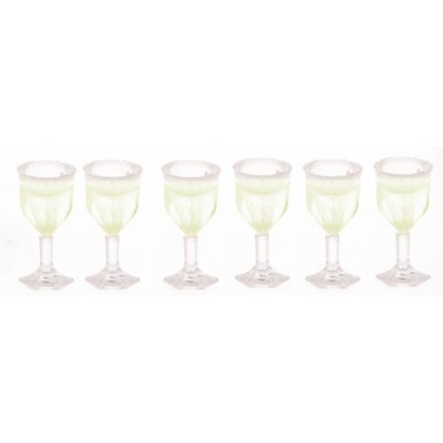 6pc Cut Stemware Set Filled