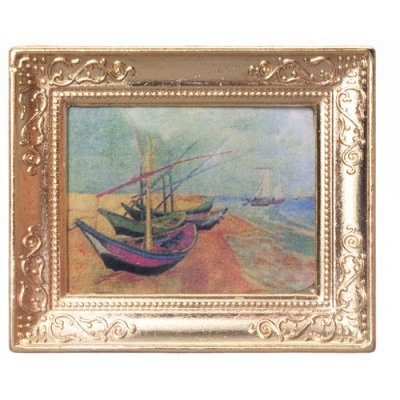 Metal Frame Picture - Sailboats