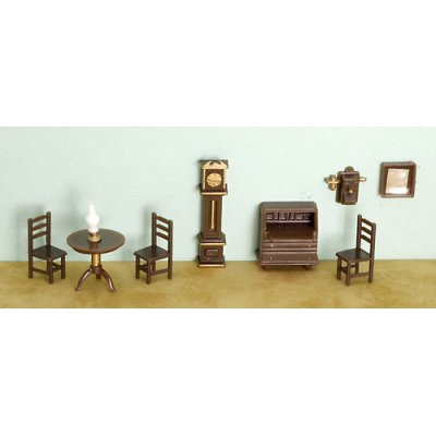 1/4in Scale Living Room Set Plastic/9pc