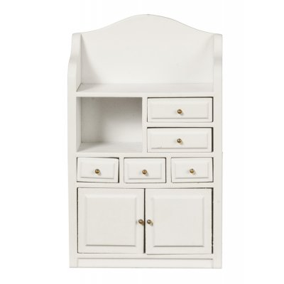 Cabinet w/ Drawers - White