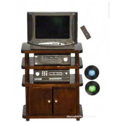 Entertainment Stand w/ Accessories - 7pc - Walnut