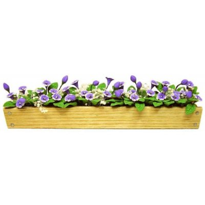 "Purple Cup Flowers in 5-1/2"" Box"