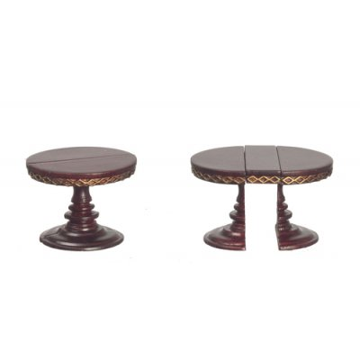 1/2in Scale Adjustable Round Table - Mahogany