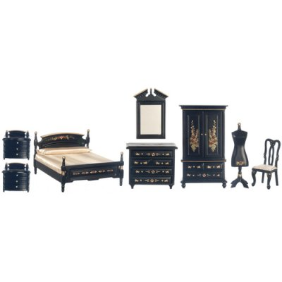 Black Bedroom Set 8pc