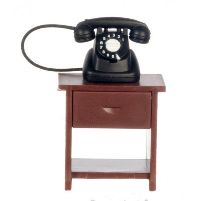 1/2in Scale Table w/ Rotary Phone