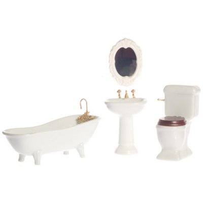 Porcelain White Bathroom Set - 4pc