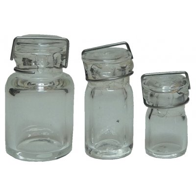 Glass Canning Jar Clear Glass 3pc