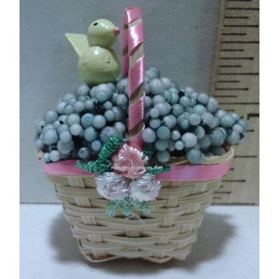 Decorated Spring Basket - Blue