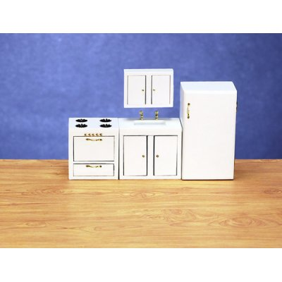 Modern Kitchen Set - White - 4pc