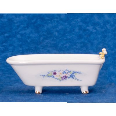 Bath Tub w/ Flower Decal
