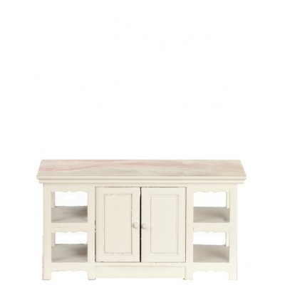 Center Island - White w/ Marble Top
