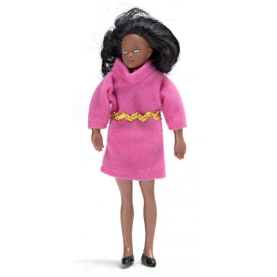 Black Mother w/ Hot Pink Dress