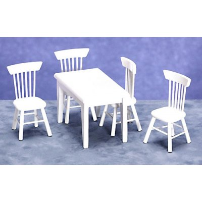 White Table & 4 chairs