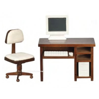 Computer Desk 6pc Set - Walnut