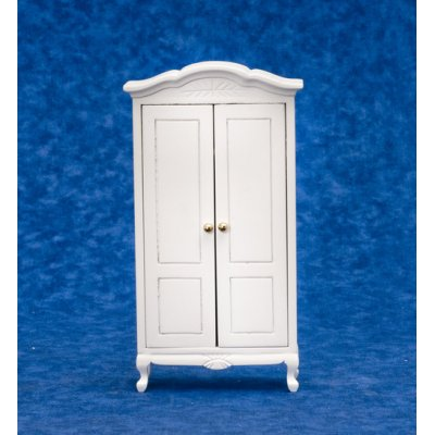 Country White Armoire w/ Working Doors