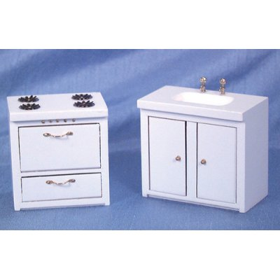 Stove and Sink Set - White