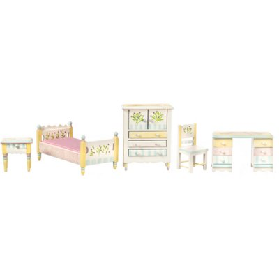 Single Bedroom Set - Whimsical Colors 5pc