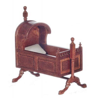 15th Century Tudor Cradle - Walnut
