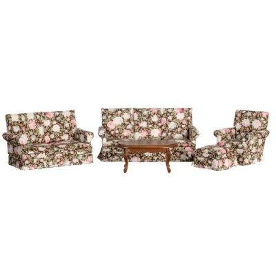 Floral Living Room Set - Floral - 5pc