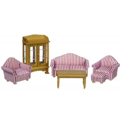 1/2 Inch Scale Living Room Set - 6pc