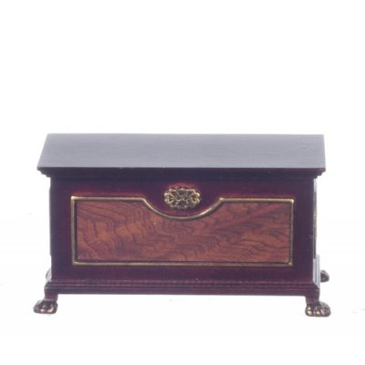 Harding Blanket Chest Mahogany w/ Hand Painted Detail