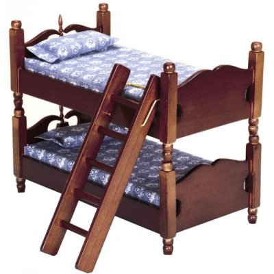 Walnut Bunk Bed w/ Ladder
