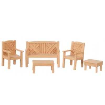 1/2in Scale Garden Set - 5pc - Oak