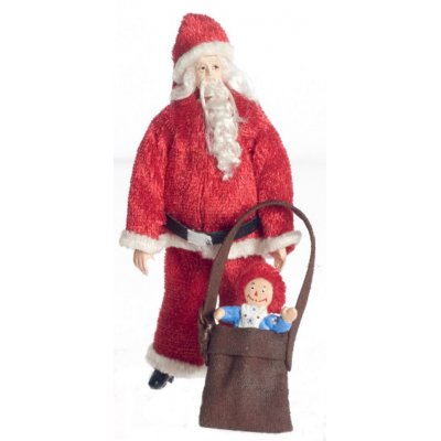 1/2in Scale Santa Claus w/ Gifts Doll