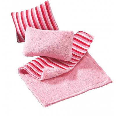 Childs Throw Blanket & Pillows 3pc Set - Pink