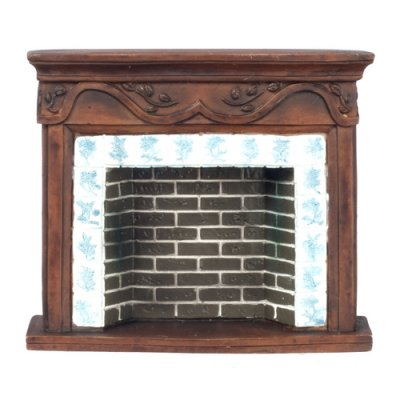 Brown Resin Fireplace
