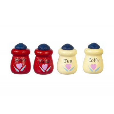 Canister Set - Red & Yellow - 4pc