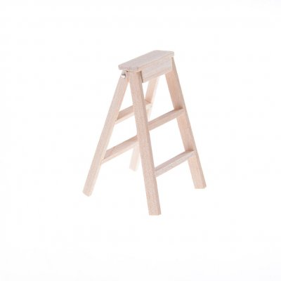 Folding Step Ladder - Unfinished