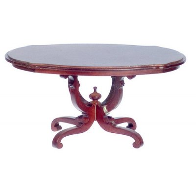 Fancy Oval Dining Room Table - Mahogany