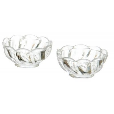 2 Clear Candy Dishes
