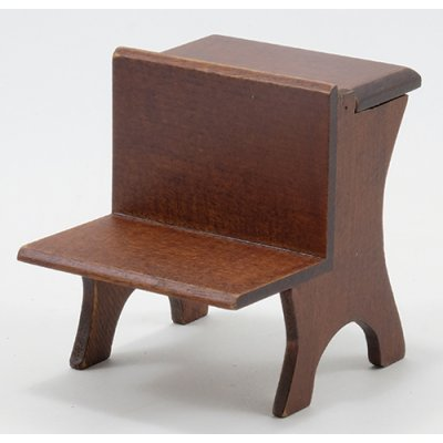 Old Fashioned Schoolhouse Desk - Walnut
