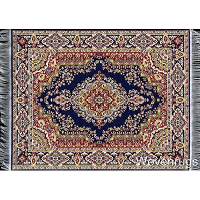 Dark Blue Turkish Room Rug 10x7