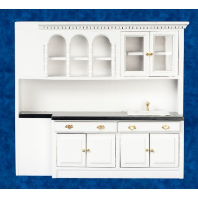 Kitchen Sink Counter Top Cabinets Unit White Mary S Dollhouse Miniatures