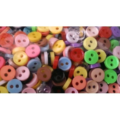 6mm Buttons - 10 Pack Assorted