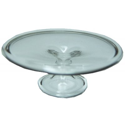 Clear Glass Cake Plate
