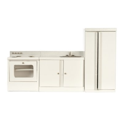 White Modern Kitchen Set 3pc