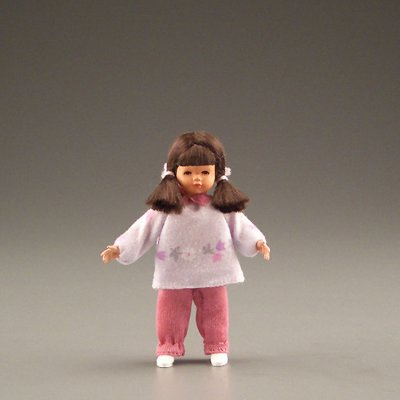 Brunette Girl in Pink - Caco Doll