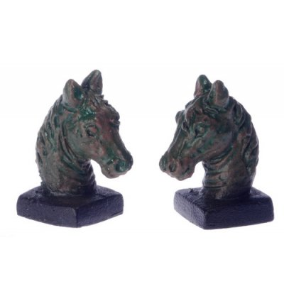 Bronzed Horse Head Book Ends