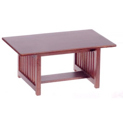 Contemporary Rectangular Dining Table - Walnut
